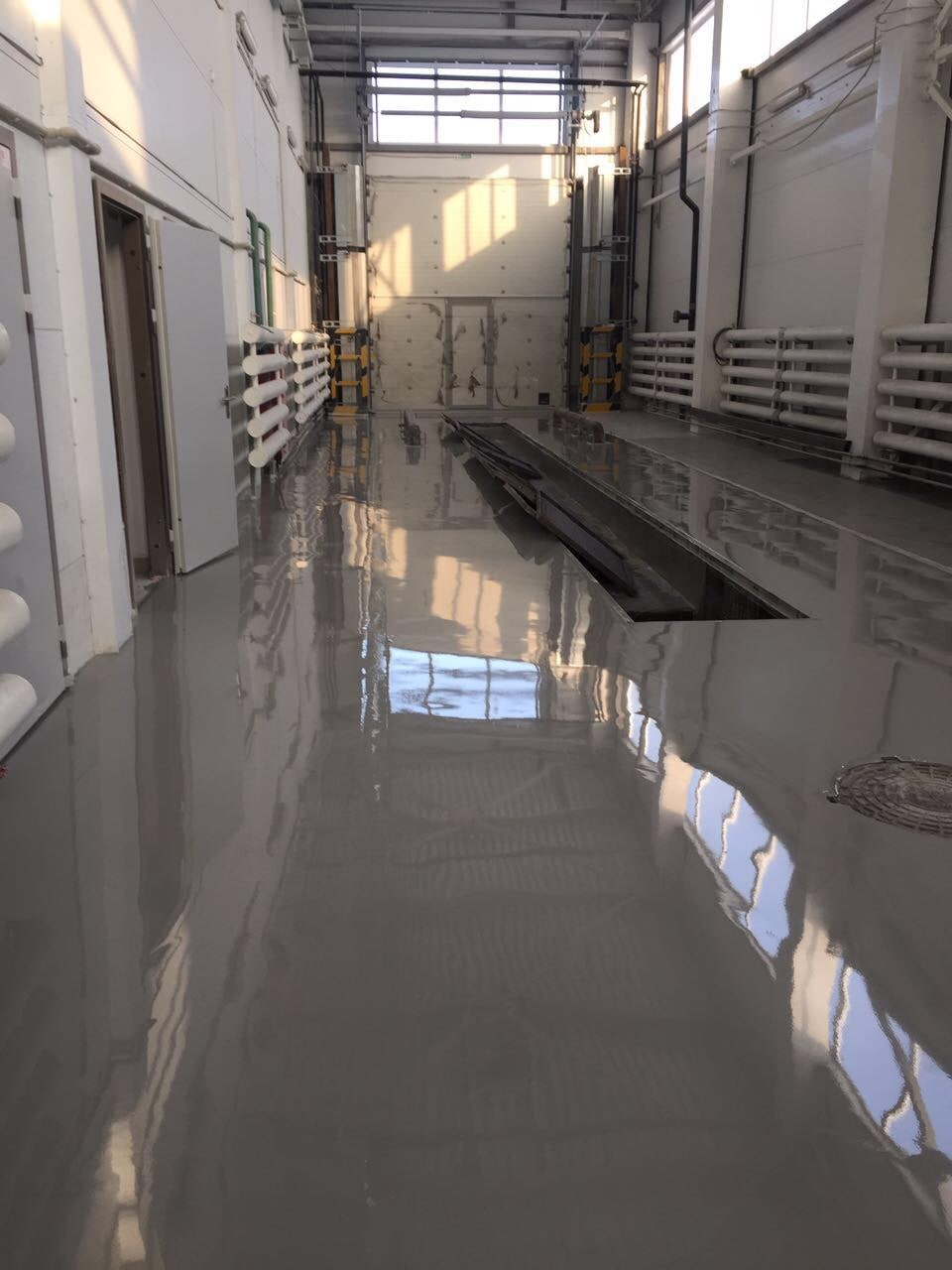 устройство полиуретан-цементных полов на заводе «Сады Придонья»